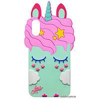 Чехол-накладка TPU 3D Little Unicorn на IPhone X / Xs Mint
