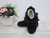 Ботинки зимние на девочку синие Ушки Ш-403 нат.замша/мех, р 32,33,36 р. Мальвы., фото 2
