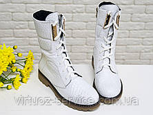 Ботинки женские Gino Figini Б-44-01 из натуральной кожи 39 Белый, фото 3