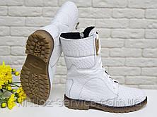 Ботинки женские Gino Figini Б-44-01 из натуральной кожи 39 Белый, фото 2