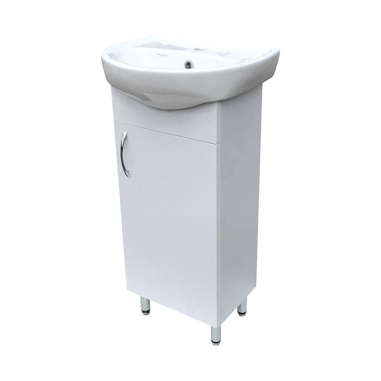 """Тумба под раковину для ванной комнаты Эко 45 c умывальником """"Аква"""" Юввис"""