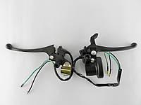 Ручки тормоза Honda Dio/TB-50/60 с креплениями под зеркала с подсосом (комплект)