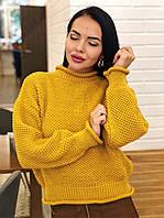 Сввободный однотонный женский вязаный свитер 4dmde609, фото 1