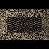 Решетка черно-золотая 11 * 17 (крашеная)