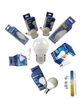 Світодіодні лампи LED лампи ТМ Іскра