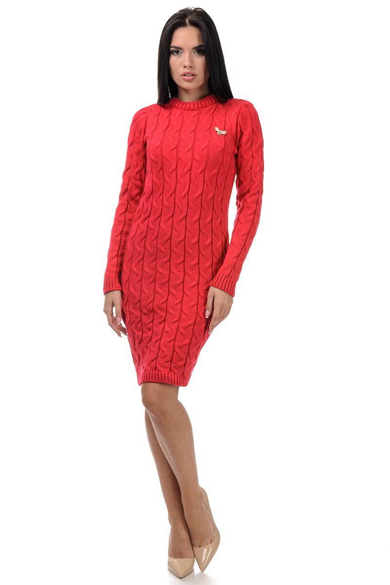 Вязаное Платье миди  универсал 44-52
