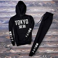 Спортивный костюм мужской Tokyo  черный | весенний осенний
