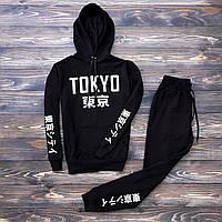 Спортивный костюм мужской в стиле Nike Tokyo  черный | весенний осенний
