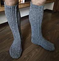 Мужские вязанные высокие носки, ручная работа
