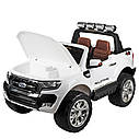 Детский электромобиль Джип M 3573 (MP4) EBLR-1, Ford Ranger 4WD, белый, фото 5