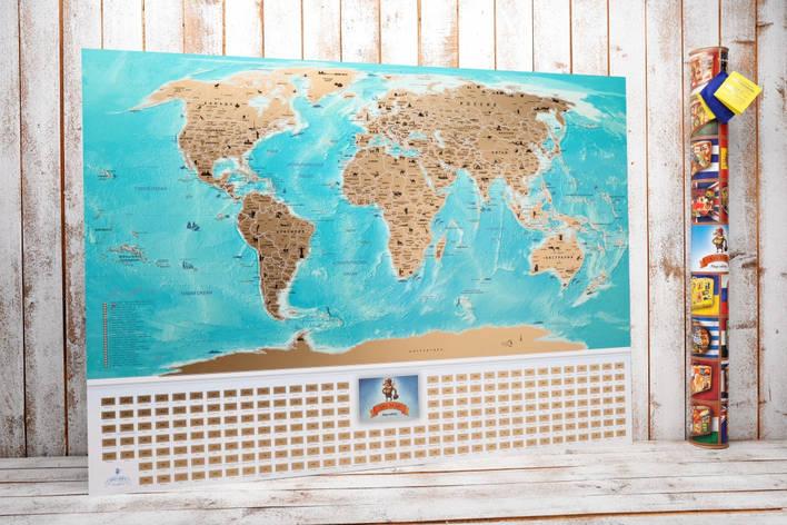 Скретч карта мира flags edition на русском языке, фото 2