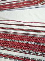 Красная ткань на рушник с украинской вышивкой Аншлаг ТДК-109 5/10 рапорт 2.4м