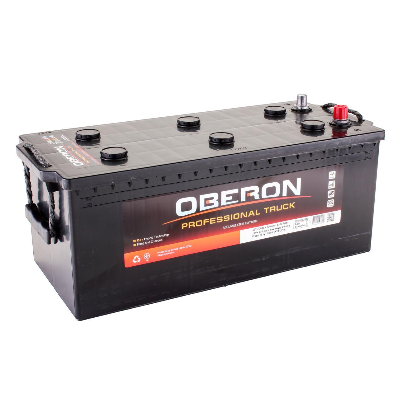Аккумулятор автомобильный OBERON Professional Truck 6CT 200Ah, пусковой ток 1300А [+|–]