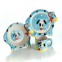 Набор детской керамической посуды Коровка