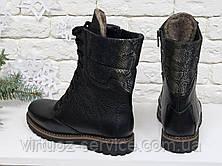 Ботинки женские Gino Figini Б-44-03 из натуральной кожи 39 Черный, фото 2