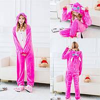 Розовый костюм кигуруми Стич