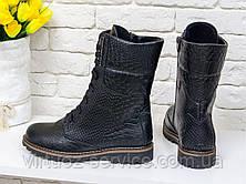 Ботинки женские Gino Figini Б-44-04 из натуральной кожи 39 Черный, фото 2