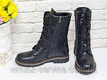 Ботинки женские Gino Figini Б-44-04 из натуральной кожи 39 Черный, фото 3