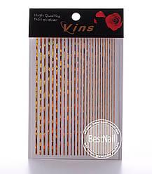 Гибкие ленты для дизайна ногтей (золото голографическая)