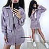 Жіночий спідничний костюм з жакетом оверсайз 9mko214