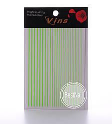 Гибкие ленты для дизайна ногтей (салатовые)