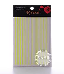 Гибкие ленты для дизайна ногтей (желтые)