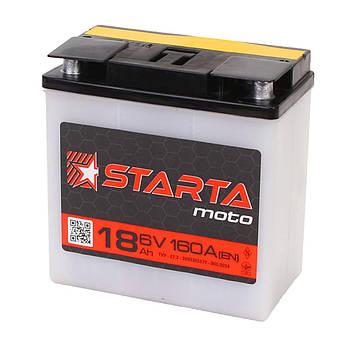 Аккумулятор мото  STARTA Moto 3CT 18 (Под клемму), пусковой ток 80А [–|+]