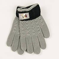 Перчатки демисезонные для мальчиков на 2-3 года - 19-7-1 - Серый