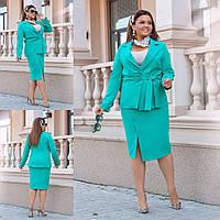 Костюм женский стильный юбка и пиджак  40818, фото 1