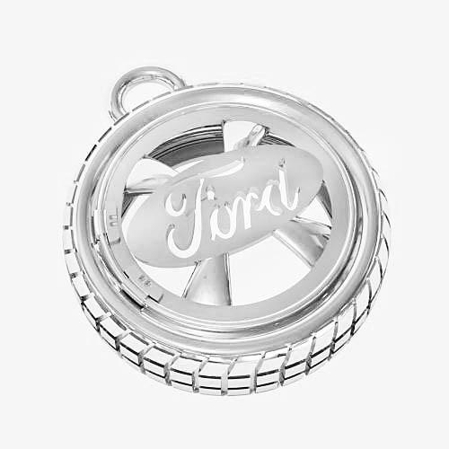 Брелок серебряный Ford БК-13