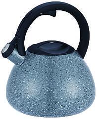 Чайник для плиты CON BRIO СВ0412 со свистком 3 л Серый 34-45284, КОД: 911985