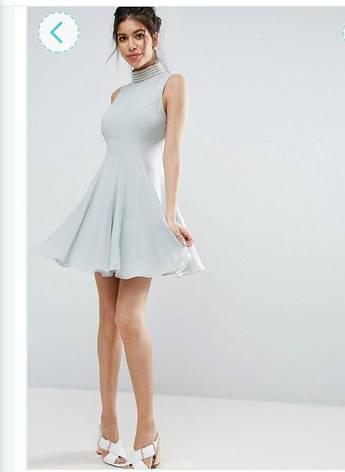 Распродажа! ASOS размер L Шифоновое пышное платье клёш, фото 2