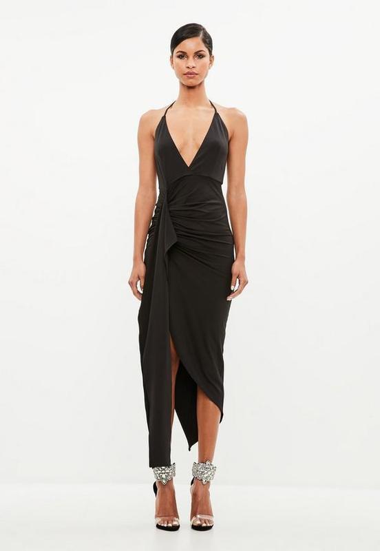 Распродажа! XL Фирменное черное платье-сарафан Missguided размер XL