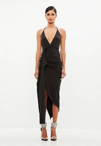 Распродажа! XL Фирменное черное платье-сарафан Missguided размер XL, фото 2