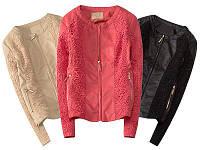 Женская куртка шанель с ажурными вставками
