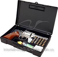 Кейс MTM пистолетный с отсеком под патроны, черный