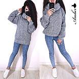 Женский вязаный свитер с широкими рукавами и большим воротником vN3230, фото 2