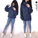 Женский вязаный свитер с широкими рукавами и большим воротником vN3230, фото 3