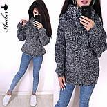 Женский вязаный свитер с широкими рукавами и большим воротником vN3230, фото 5