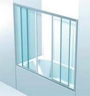 Шторки раздвижные на ванну ( 4 части / 2 открывающиеся )