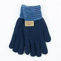 Двойные шерстяные перчатки для мальчика 4-6 лет - 19-7-19 - Синий