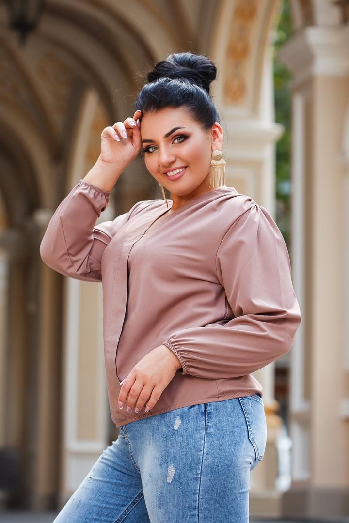 Женская блуза на запах  42-44, 46-48, 50-52, 54-56