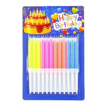 Свечи для торта НЕОН 12шт