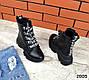 Женские черные ботинки натур.кожа на платформе Деми, фото 9