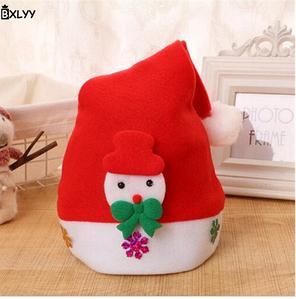 Новорічна шапочка BXLYY дитяча 46_детская/сніговик