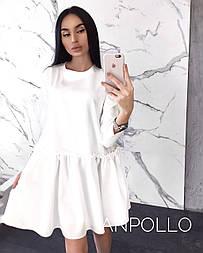 Свободное платье с заниженной талией и длинным рукавом vN3251