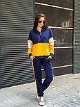 Женский трикотажный спортивный костюм с худи с молнией на груди vN3259, фото 4