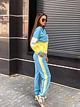 Женский трикотажный спортивный костюм с худи с молнией на груди vN3259, фото 6