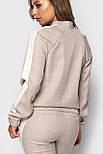 Женский спортивный костюм с зауженными штанами на манжетах и мастеркой на молнии vN3263, фото 4