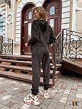 (от 42 до 52 размера) Вельветовый свободный брючный костюм с укороченной кофтой vN3276, фото 4